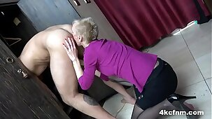 Insane Granny Rimming Me in the Locker Room