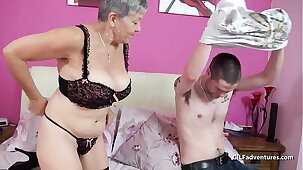 Grey haired mature fucks Nephew