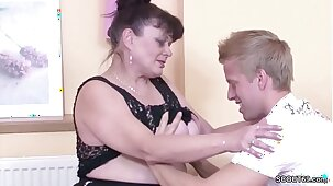 German Virgin Young Guy Seduce Granny to Fuck for First Time