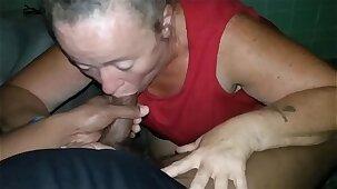 Granny bbw giving me head