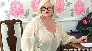 British sexiest granny secretaries stripping off