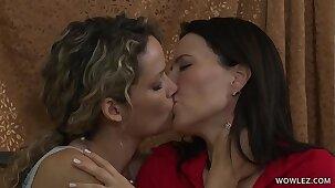 Hot MILF and her Daughter's friend Enjoy Lesbian sex