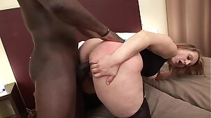 Horny cheating MILF Magda gets butt fucked on the bed while her husband is at work