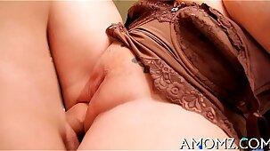 Sexy mama gets pleasure of ramrod