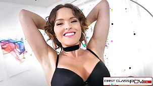 FirstClassPOV - Big booty Krissy Lynn is punished by a big dick, big boobs