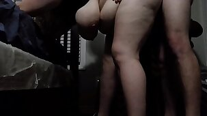 Bbw huge tit wife fucked from behind 2