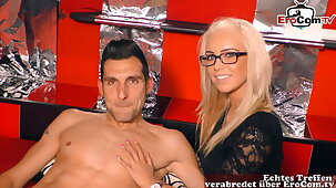 GERMAN CASTING - first time FFM threesome with girlfriend